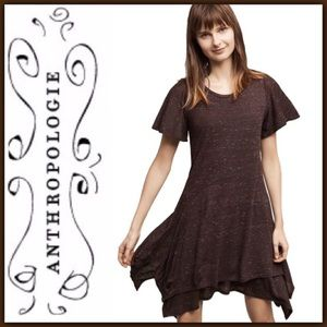 Anthropologie Melanie Knit Handkerchief Hem Dress